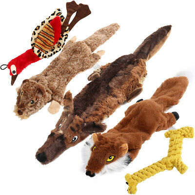 $6.98 • Buy 4 Pcs Dog Squeaky Toys Durable Plush Toy For Puppy Small Dogs Pets W/ Squeaker
