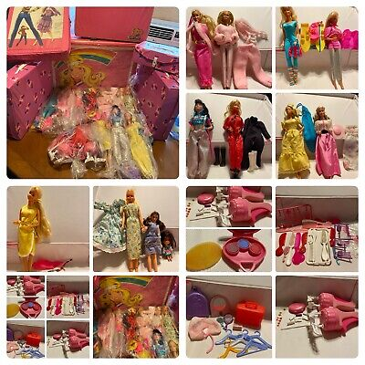 $ CDN204.11 • Buy HUGE VINTAGE BARBIE LOT 1960S DOLLS, CASES, CLOTHING, NEW ACCESSORIES + Estate