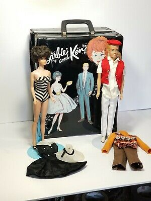 $ CDN71.96 • Buy Vintage 1960s Bubble Cut Barbie And Ken Doll With Carrying Case And Outfits