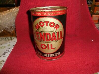 $ CDN65.10 • Buy Vintage Kendall Motor Oil Quart Can Kendall Refining Co. 5 1/2  Full Can