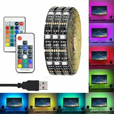 $4.99 • Buy New USB LED RGB Strip Light TV LCD Monitors Background Decor Color Changing US