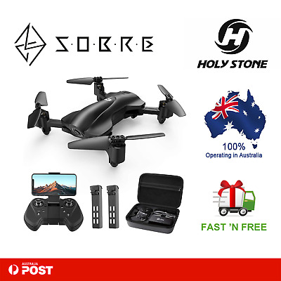 AU299.95 • Buy Holy Stone HS165 Fordable FPV Camera 1080p HD RC Drone [2 Batteries+Carry Case]