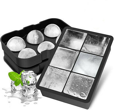Silicone Ice Cube Large Jumbo DIY Mold Square Tray Mould  Sphere Ball Maker New • 8.38£