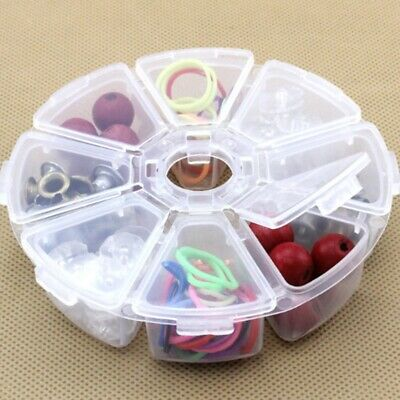 8 Holes Compartment Plastic Storage Box Case Pill Jewelry  Beads Craft Case • 4.44£