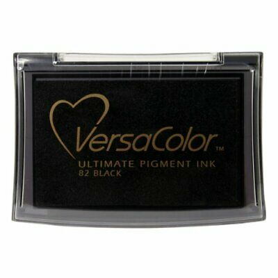 Versacolor Ink Pad Black Pigment Ink Colour Intensive Line Hinged Lid Stamping • 5.55£