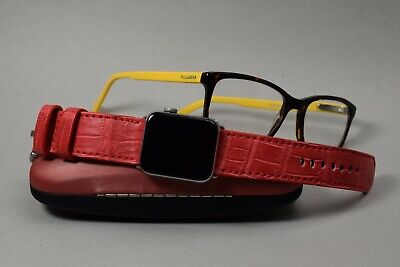 $ CDN217.50 • Buy  Ma Watch Strap Genuine Alligator Belly Square Red For Apple Watch Iwatch 1 - 5