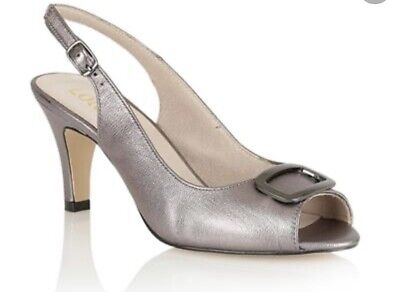 Lotus Pewter Silver Grey Sling Back Shoes Emily Size 5 1/2 BNWB £65 Beautiful • 17.95£