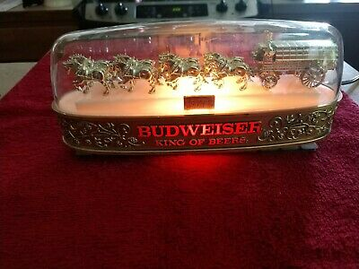 $ CDN363.33 • Buy VTG Budweiser Breweriana Clydesdale Team Lighted Cash Register Sign Very Rare
