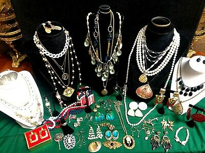 $ CDN51.98 • Buy Lot - 50 Pieces  Vintage & Fashion Jewelry 6 Signed -sterling  Avon Monet