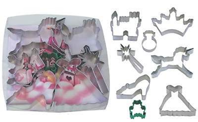 AU12.95 • Buy Little Princess Cookie Cutter 8 Set Crown, Unicorn, Wand, Slipper, Gown, Ring