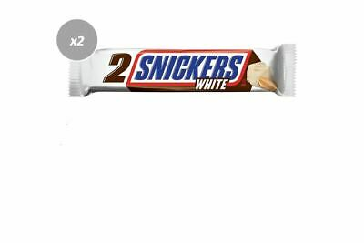 AU6.98 • Buy 916550 2 X 80g PACKETS OF SNICKERS KING SIZE WHITE CHOCOLATE 2 BARS PER PACK