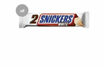 AU27.92 • Buy 916550 8 X 80g PACKETS OF SNICKERS KING SIZE WHITE CHOCOLATE 2 BARS PER PACK