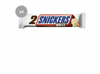 AU13.96 • Buy 916550 4 X 80g PACKETS OF SNICKERS KING SIZE WHITE CHOCOLATE 2 BARS PER PACK