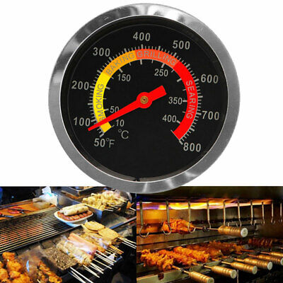 BBQ Smoker Grill Stainless Steel Thermometer Temperature Gauge 50~800 Degrees • 3.93£