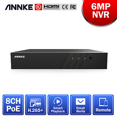 AU149.99 • Buy ANNKE 8CH 6MP H.265+ NVR Video Recorder  For POE Security Camera System Montion