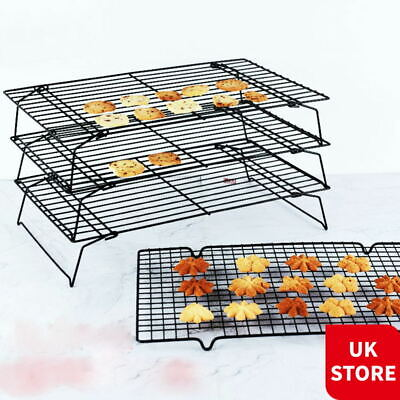Folding Cooling Baking Drying Rack Cookie Cake Food Non Stick Kitchen Tray Stand • 9.89£