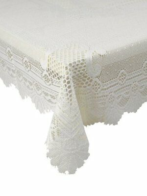 Traditional Floral White Lace Stain Release Table Cloth 36  Square £7.99 Each  • 7.99£