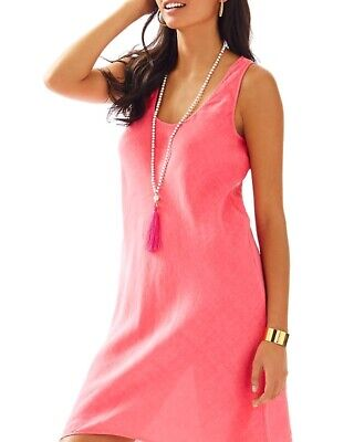 $44.95 • Buy Lilly Pulitzer Patterson Dress Hot Coral Size Large Nwt