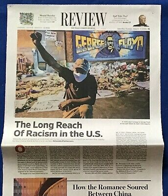 $3.95 • Buy Iconic Wall Street Journal Article GEORGE FLOYD PROTEST Memorial