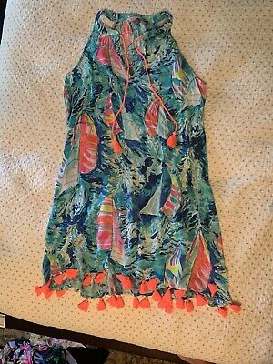 $20.50 • Buy Womens Lilly Pulitzer Size Small Tassle Trapeze Cover Up