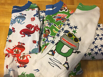$16.50 • Buy Boys Hanna Andersson Pajamas, 140, Lot Of 3, Short Sleeved