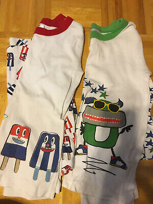 $6.50 • Buy Boys Hanna Andersson Pajamas, 140, Lot Of 2, Short Sleeved