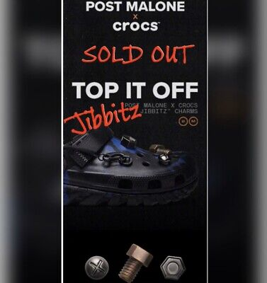 $25 • Buy Post Malone Jibbitz For Crocs. Post Co. Sold Out Online