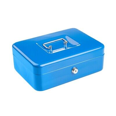 £12.69 • Buy Compact Solid Steel Lockable Petty Cash Money / Valuables Safe Box - 10 Inch