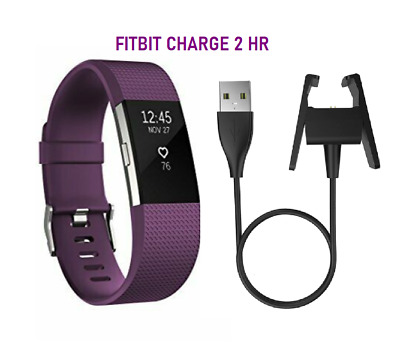 $ CDN64.86 • Buy Fitbit Charge 2  HR Fitness Wristband Activity Tracker - Purple Plum LARGE Band