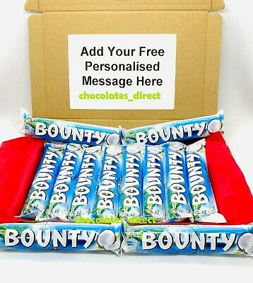 12 Bounty Milk Chocolate Coconut Twin Bars 57g Personalised Gift Hamper Box • 9.99£