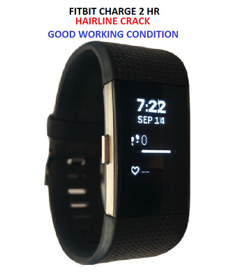 $ CDN29.03 • Buy Fitbit Charge 2 Fitness Activity Tracker - Large Small / Band - Cracked Glass