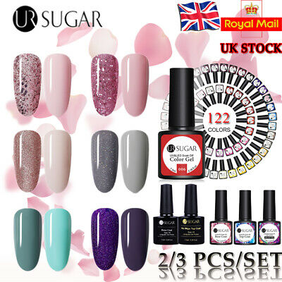 UR SUGAR Glitter Gel Nail Polish 2/3 Colours Gift Set UV LED Gel Varnish Kit-UK • 5.69£