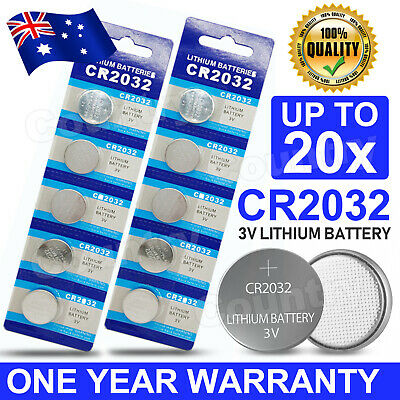 AU5.85 • Buy 20x CR2032 3V LITHIUM BUTTON BATTERY BATTERYIES BRAND NEW GENUINE CELL BATTERY