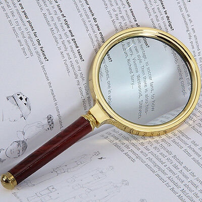 90mm Handheld Jewelry Classic 10X Magnifier Magnifying Glass Loop Reading Aid • 6.19£