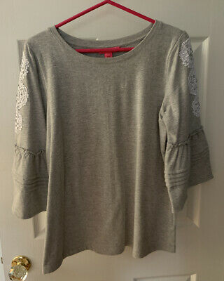 $9.99 • Buy EUC Lilly Pulitzer Fatima Top Gray Size M