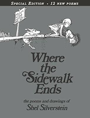 Where The Sidewalk Ends 30th Anniversary Edition, Hardback  By SHEL Silverstein • 16.42£
