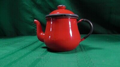 $9.99 • Buy Vintage Retro Enamelware Enamel Teapot Tea For One Japan