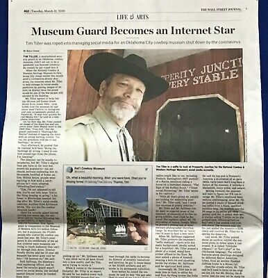 $3.95 • Buy Iconic Wall Street Journal Article TIM TILLER National Cowboy Museum Colorful