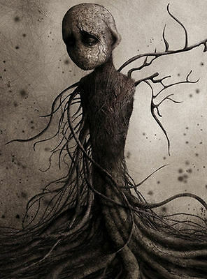 £7.95 • Buy Framed Print - Weird Human Figure Wrapped In Tree Roots (Picture Poster Gothic)