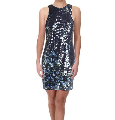 $59.99 • Buy Aidan Mattox Sequined Embroidered Sheath Dress $245 Size 12 # 11NA 323 NEW