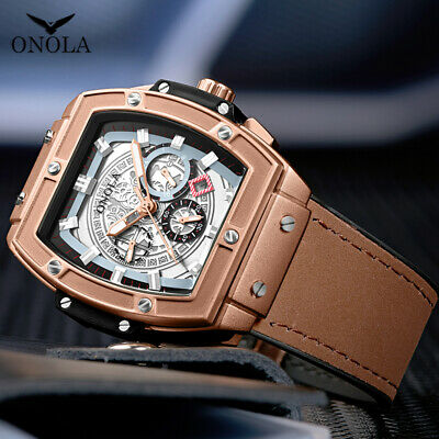$29.99 • Buy Relojes Hombre Big Face Chronograph Mens Watch Analog Fashion Leather Wristwatch