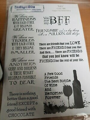Indigoblu Foam Mounted Stamp Bundle MORE THAN WORDS/BFF/SENTIMENTS  Lot 54 • 8£