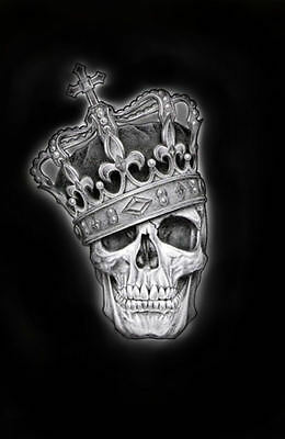 £7.95 • Buy Framed Print - Skull Of A King Wearing His Crown (Gothic Picture Poster Art)