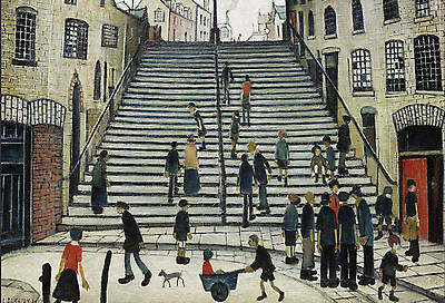LS Lowry Framed Print – Steps At Wick (Picture Painting English Artist Artwork) • 7.95£