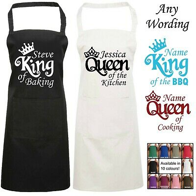 £12.99 • Buy Queen Of The Kitchen Personalised Apron King Of The BBQ Baking Cooking Name