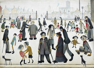 Framed LS Lowry Print – The Cripples (Picture Painting English Artist Artwork) • 7.95£