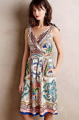 $ CDN67.97 • Buy $198 NWT Anthropologie Tied Acionna Silk Dress  By Collette Dinnigan 0