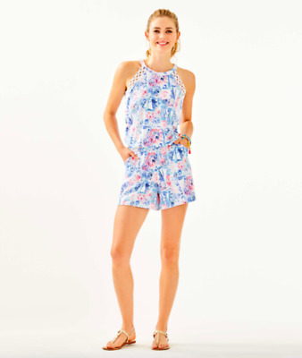 $84.99 • Buy LILLY PULITZER Lala  Romper SEA TO SHINING SEA Size M~NWT$138