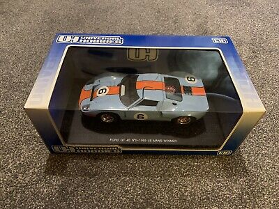Universal Hobbies, 3008, Ford GT 40, No.6 1969 Le Mans Winner, 1/18, Blue • 65£