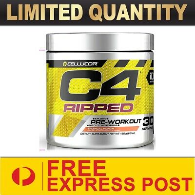 AU52.90 • Buy Cellucor C4 Id Ripped Pre Workout 30 Srv//energy Thermogenic Fat Burner  Express